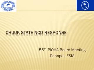 Chuuk  State NCD Response