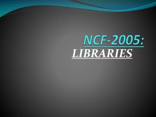 NCF-2005: