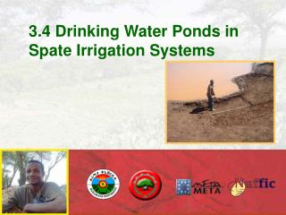 3.4 Drinking Water Ponds in Spate Irrigation Systems