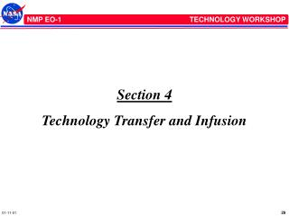 Section 4 Technology Transfer and Infusion