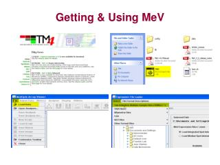 Getting & Using MeV
