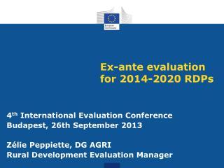 Ex-ante evaluation for 2014-2020 RDPs