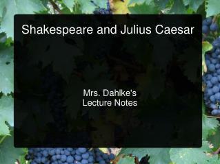 Shakespeare and Julius Caesar