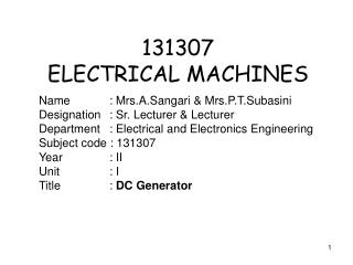 131307 ELECTRICAL MACHINES