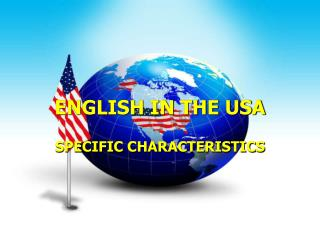 ENGLISH IN THE USA