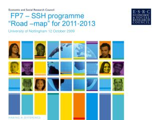 "FP7 – SSH programme ""Road –map"" for 2011-2013"