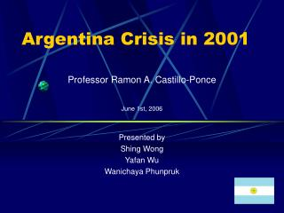 Argentina Crisis in 2001