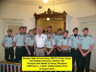 Bandys High School Army JROTC Honor Guard Old Soldiers Reunion, Newton, NC
