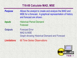 T18-08 Calculate MAD, MSE