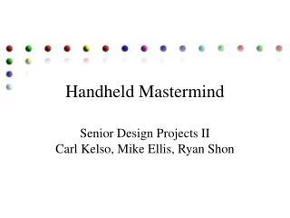 Handheld Mastermind