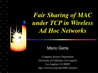 Fair Sharing of MAC under TCP in Wireless Ad Hoc Networks