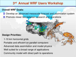 3 rd   Annual WRF Users Workshop