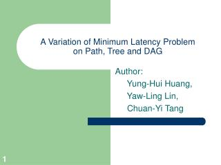 A Variation of Minimum Latency Problem on Path, Tree and DAG