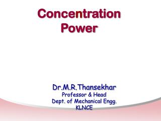 Conce n tration Power
