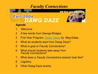 Faculty Connections