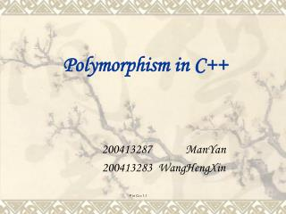 Polymorphism in C++