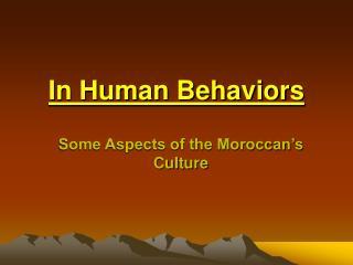 In Human Behaviors