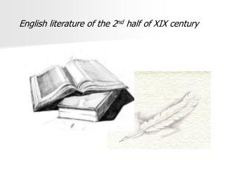 English literature of the 2 nd  half of XIX century