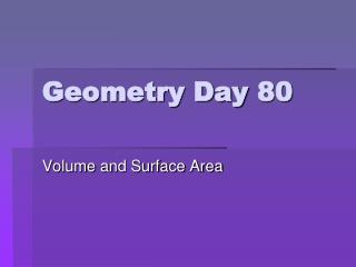 Geometry Day 80