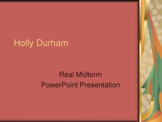 Holly Durham