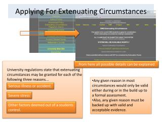 Applying For Extenuating Circumstances