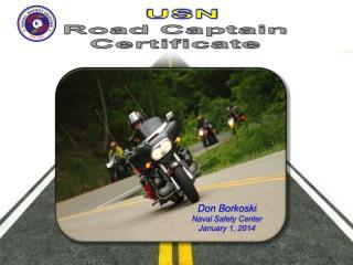 USN Road Captain Certificate