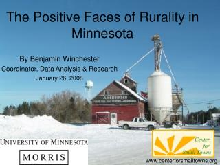 The Positive Faces of Rurality in Minnesota