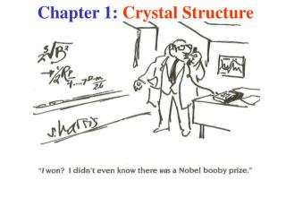 Chapter 1:  Crystal Structure