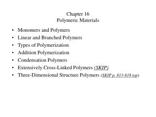 Chapter 16 Polymeric Materials