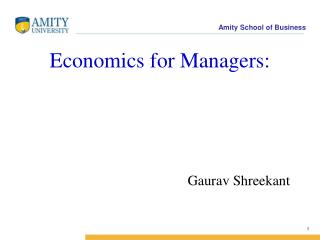 Economics for Managers: