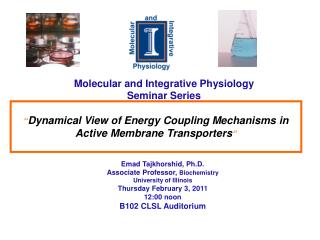 Molecular and Integrative Physiology Seminar Series