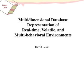 Multidimensional Database Representation of Real-time, Volatile, and Multi-behavioral Environments