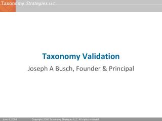 Taxonomy Validation
