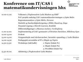 Konference om IT/CAS i matematikundervisningen hhx