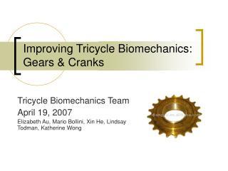 Improving Tricycle Biomechanics: Gears & Cranks