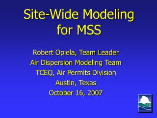 Site-Wide Modeling for MSS