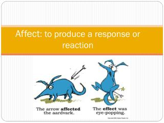 Affect : to produce a response or reaction
