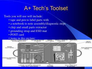 A+ Tech's Toolset