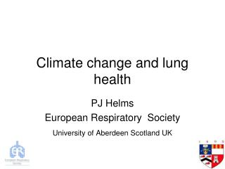 Climate change and lung health