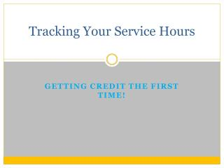 Tracking Your Service Hours