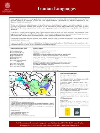 Iranian Languages