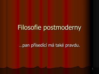 Filosofie postmoderny