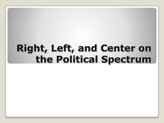Right, Left, and Center on the Political Spectrum