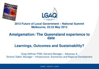 2013 Future of Local Government – National Summit Melbourne, 22-23 May 2013