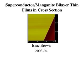 Superconductor/Manganite Bilayer Thin Films in Cross Section