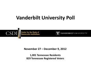 Vanderbilt University Poll