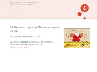 BA thesis � topics in Microeconomics