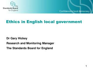 Ethics in English local government
