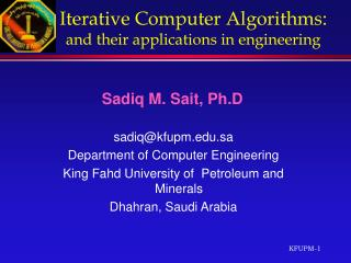 Iterative Computer Algorithms : and their applications in engineering