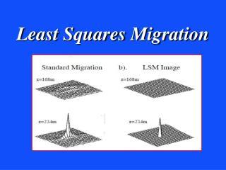 Least Squares Migration